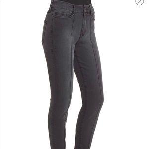 Good American Good Legs Pintuck Black Skinny Jeans
